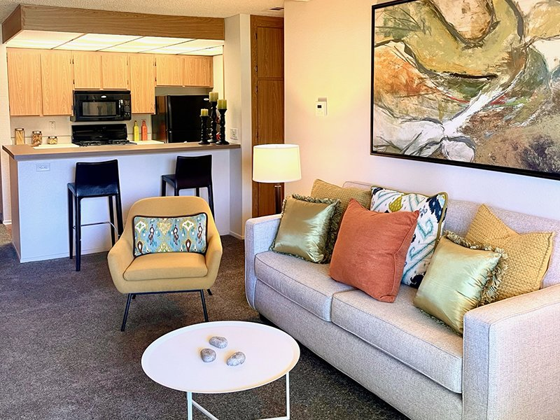 Living Room | Chaparral Apartments in Palmdale, CA