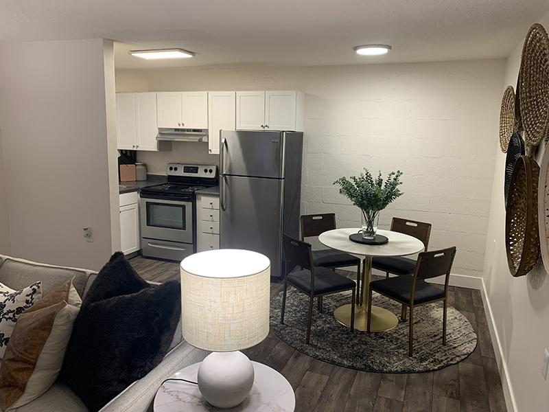Dining Area | Towers on Main Apartments