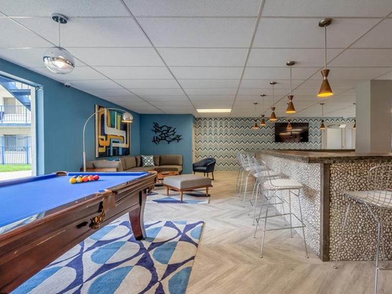 Billiards Table | The Argyle Apartments