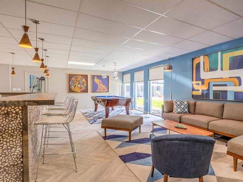 Clubhouse Lounge | The Argyle Apartments