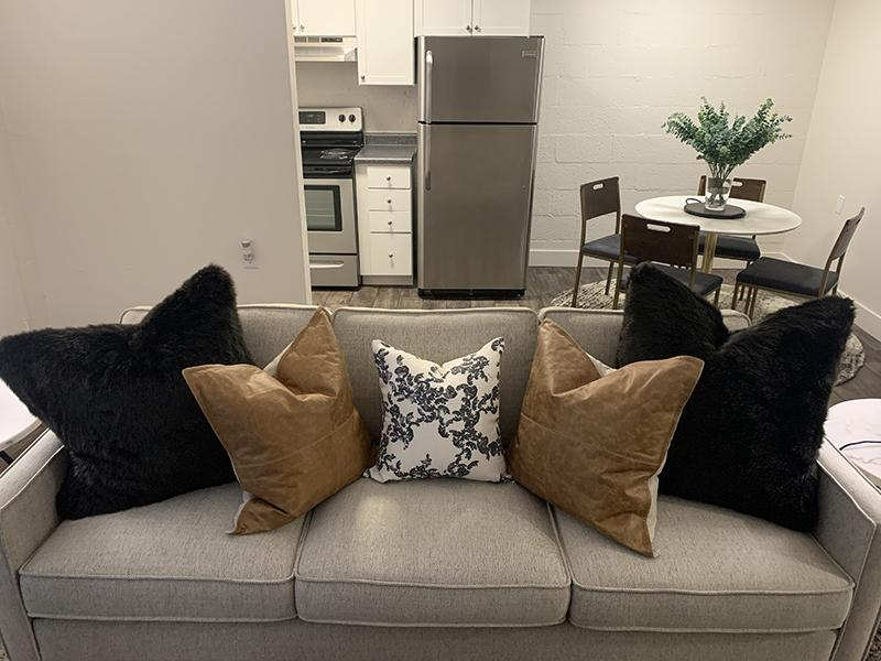 Living Room | Towers on Main Apartments