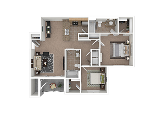 Floorplan for Ridgeview Apartments