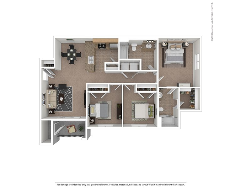 Our 3X2 is a 3 Bedroom, 2 Bathroom Apartment