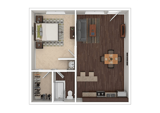 Floorplan for The Rail at Georgetown Apartments