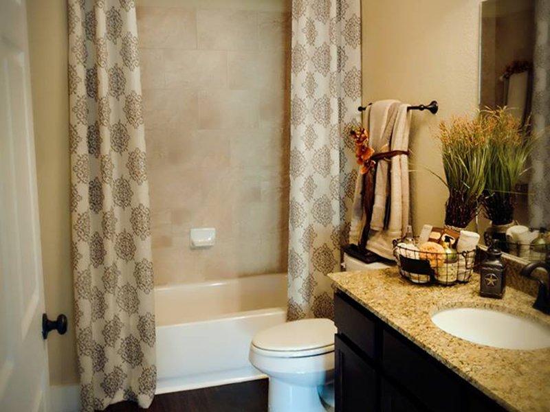 Bathroom | Woodlands of Denton Apartments