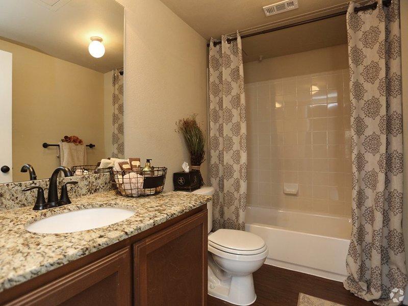 Beautiful Bathroom | Woodlands of Denton Apartments