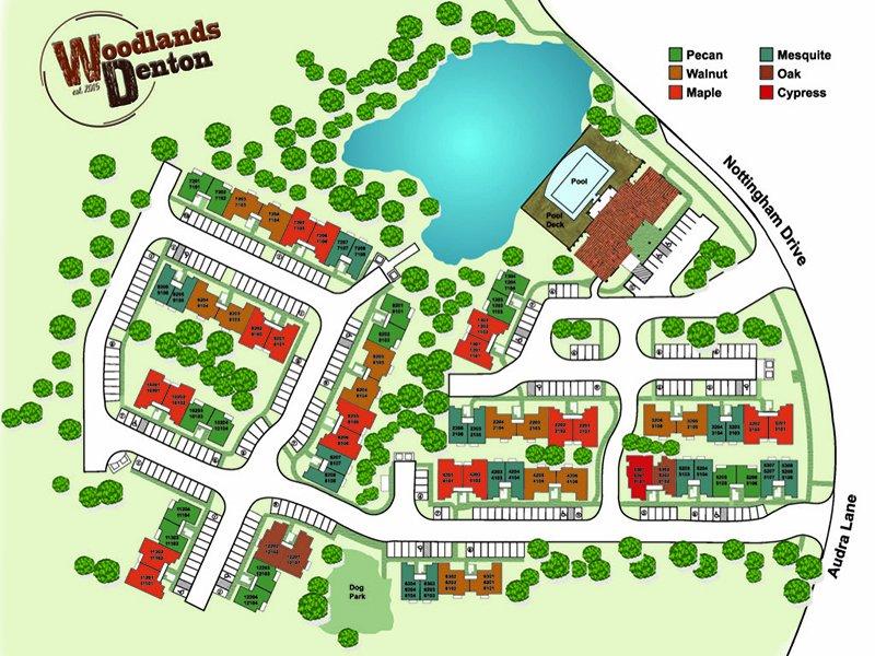 Property Map | Woodlands of Denton Apartments