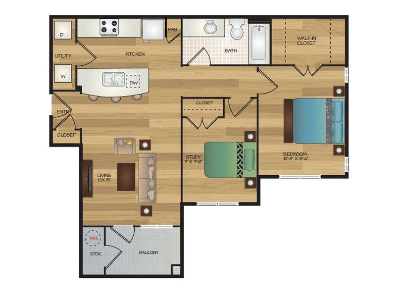 Our Nami G is a 1 Bedroom, 1 Bathroom Apartment