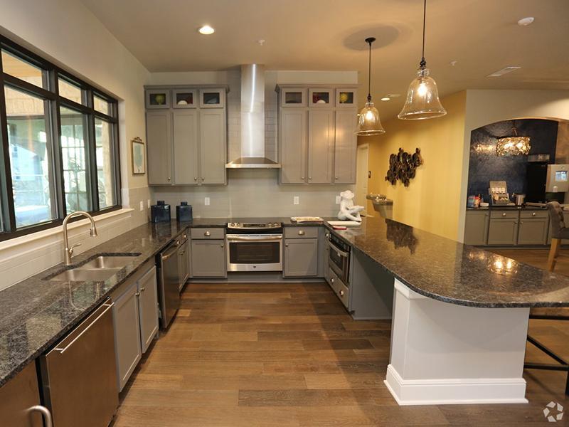 Club House Kitchen  | Cascadia Apartments