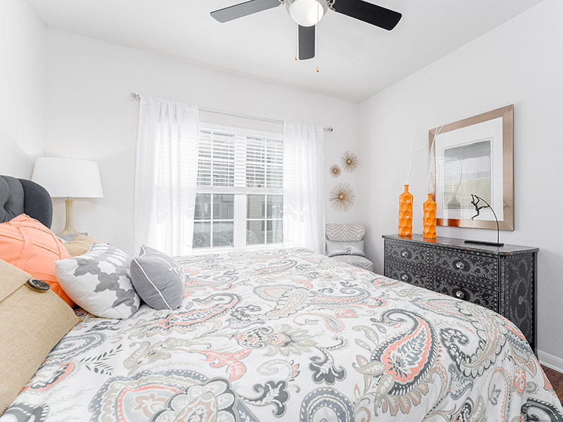 Ceiling Fans in Bedroom | Cascadia Apartments