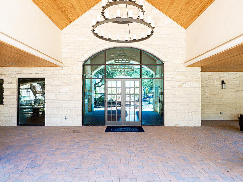 Clubhouse Exterior | Cascadia Apartments in San Antonio, TX