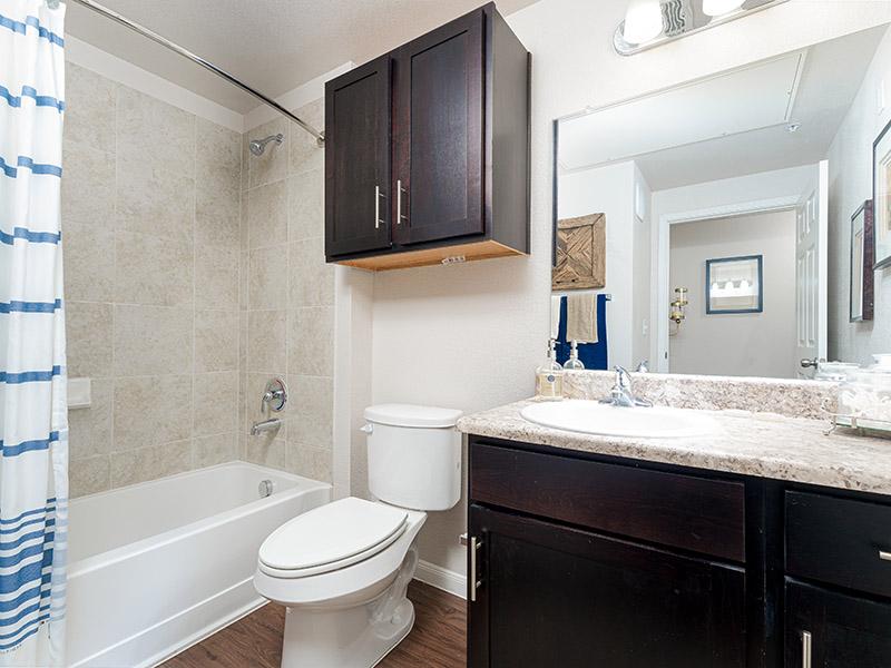 Bathroom | Cascadia Apartments in San Antonio, TX