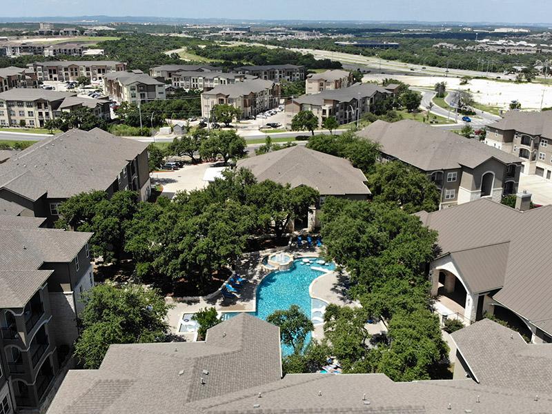 Aerial View | Cascadia Apartments in San Antonio, TX