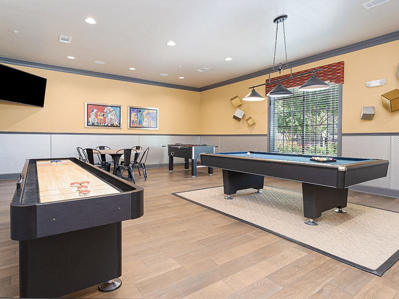 Game Room | Cascadia Apartments in San Antonio, TX
