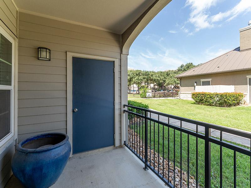 Balcony | Cascadia Apartments in San Antonio, TX