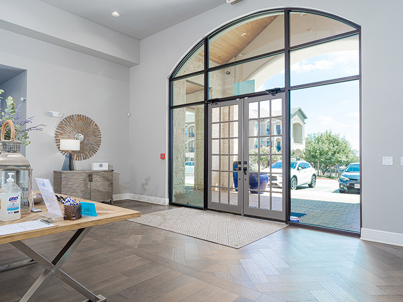 Clubhouse Entry | Cascadia Apartments in San Antonio, TX