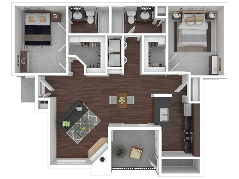 Floorplan for Reflections at Highpoint Apartments