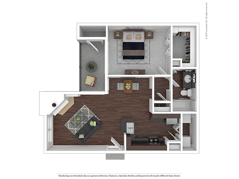 Our 1x1A3 W/D is a 1 Bedroom, 1 Bathroom Apartment