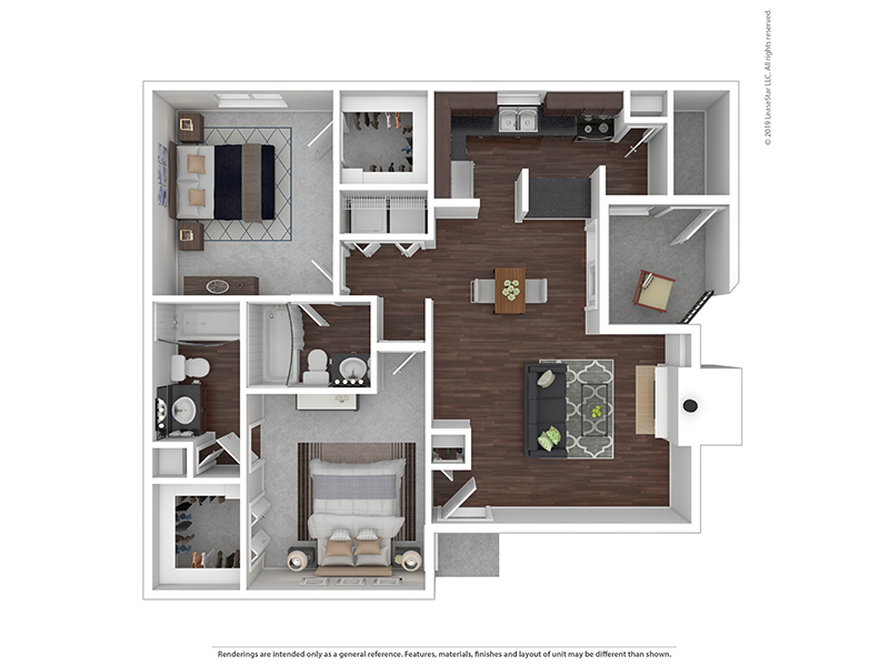 Our 2x2B1 W/D is a 2 Bedroom, 2 Bathroom Apartment