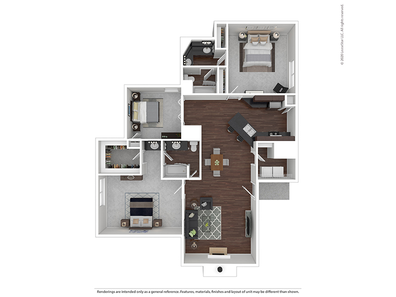 Our 3x2 W/D is a 3 Bedroom, 2 Bathroom Apartment