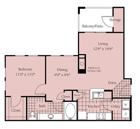 Floorplan for Verandas at City View Apartments