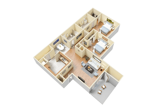 Floorplan for Central Park Apartments