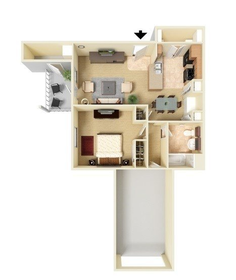 Floor Plans at The Falls at Westover Hills Apartments