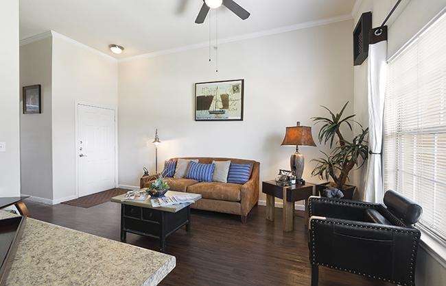 Living Room - The Falls at Westover Hills - Texas