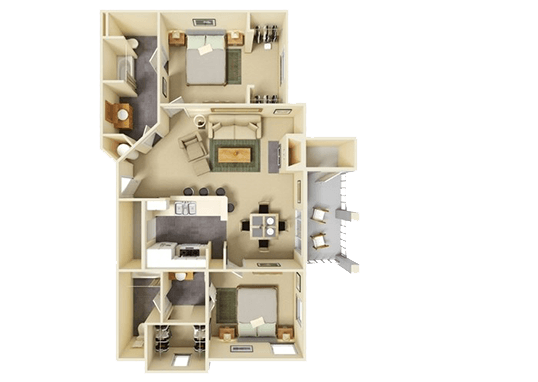 Floorplan for Hill Country Villas Apartments