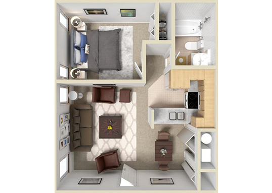 Floorplan for Layton Meadows Apartments