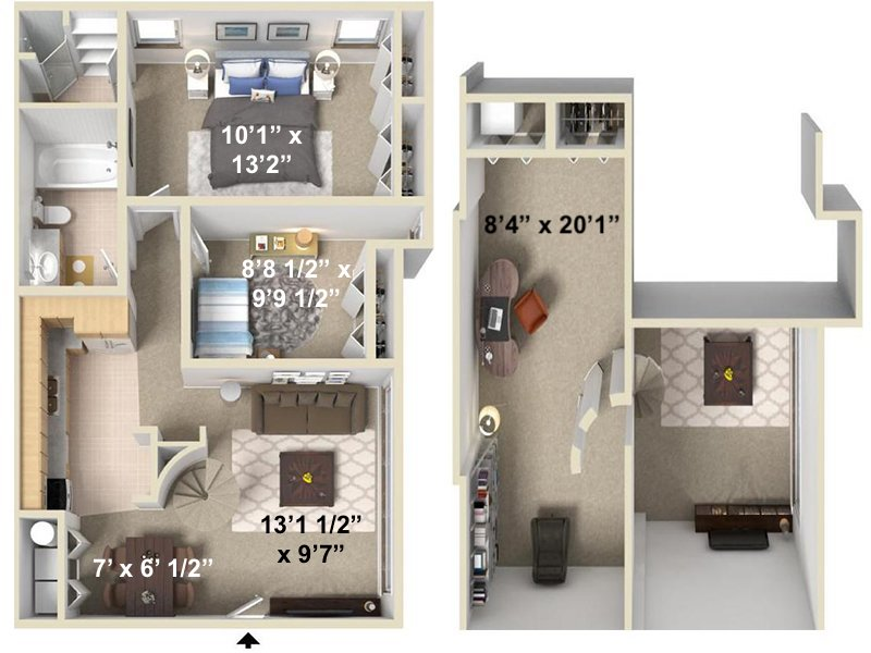 Our Olympus is a 2 Bedroom, 2 Bathroom Apartment