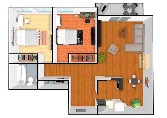Floorplan for Sunset Pines Apartments