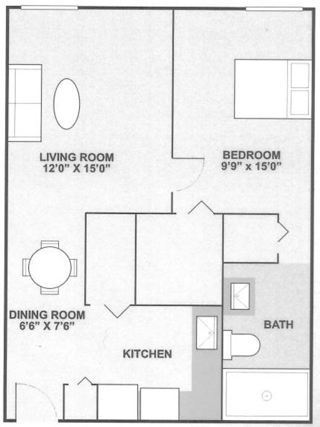 Floor Plans at Ridgewood Towers Apartments