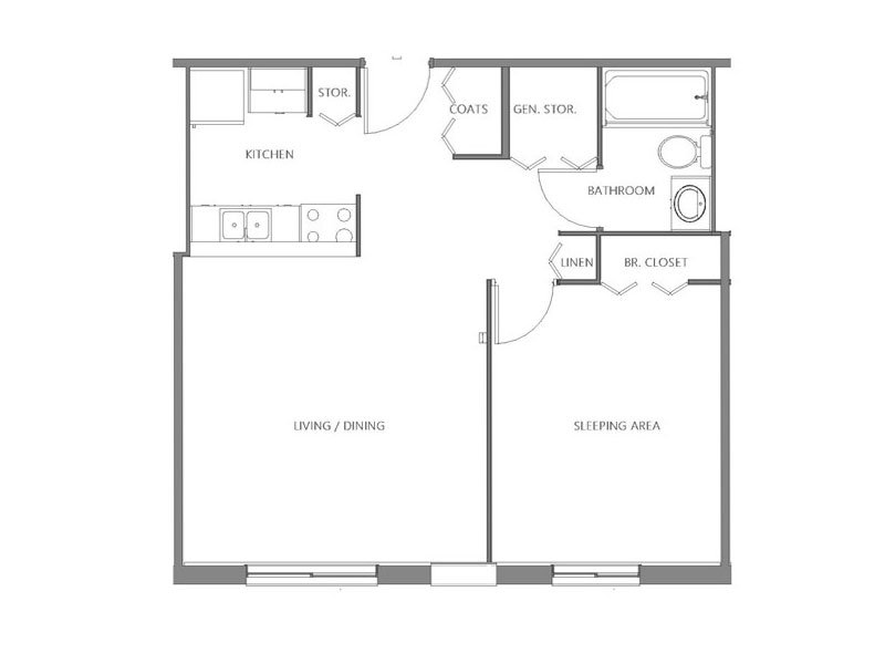 Our North is a 1 Bedroom, 1 Bathroom Apartment