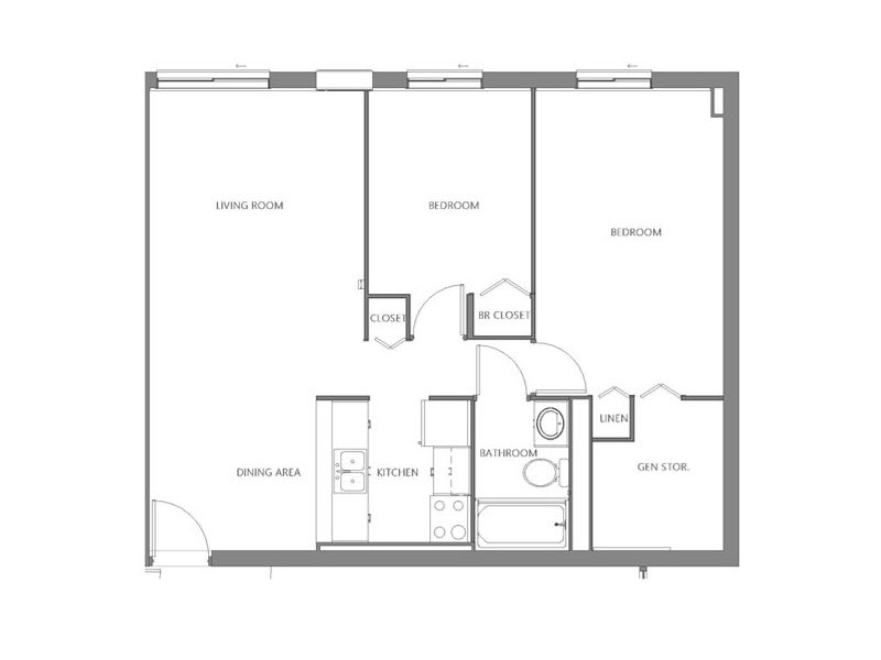 Our West is a 2 Bedroom, 1 Bathroom Apartment