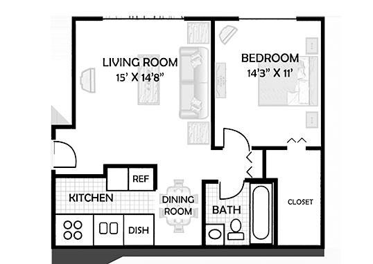 Floorplan for Riverstone Apartments
