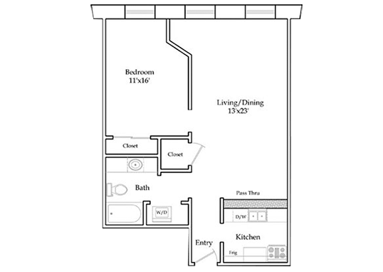 Floorplan for 5th Avenue Station Apartments