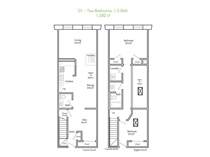 Our D1-R is a 2 Bedroom, 2 Bathroom Apartment