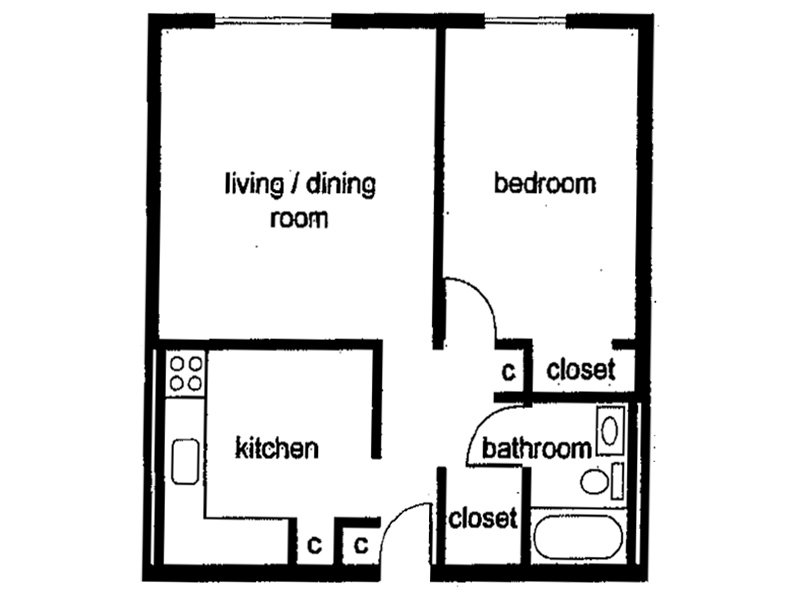 Floor Plans at Forest Apartments