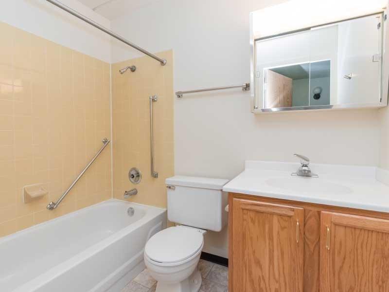 apartment bathroom | Forest Apartments