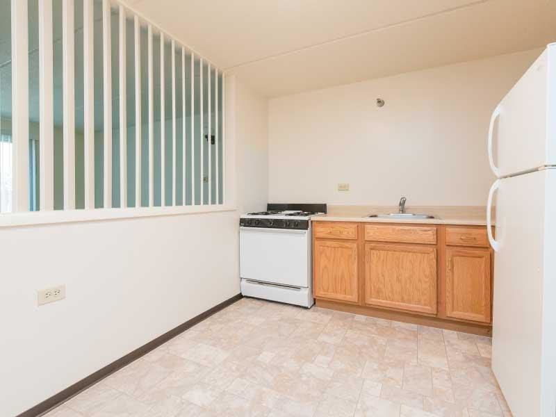 apartment kitchen overview | Forest Apartments