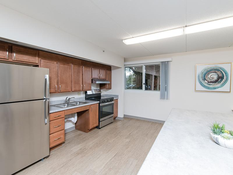 Community Kitchen | Centennial South Apartments in Mount Prospect, IL
