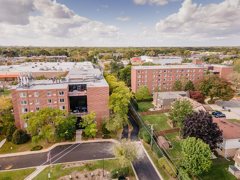 Arial View | Centennial South Apartments in Mount Prospect, IL