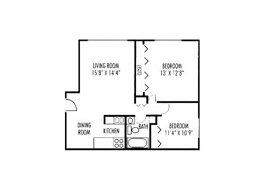 Floorplan for West Line Apartments