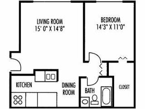 Floor Plans at West Line Apartments