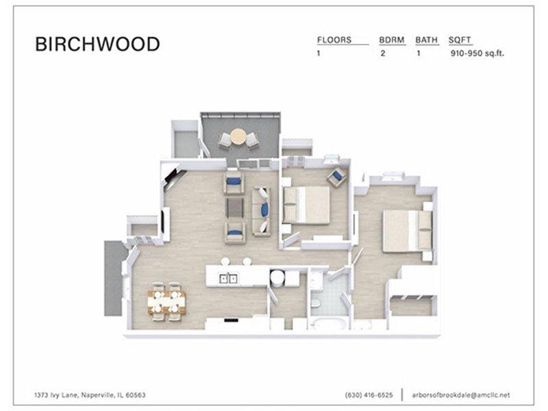 Our 2 Bedroom 1 Bathroom B1 is a 2 Bedroom, 1 Bathroom Apartment