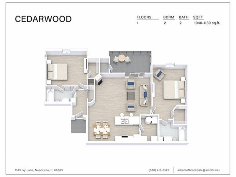 Our 2 Bedroom 2 Bathroom C1 is a 2 Bedroom, 2 Bathroom Apartment