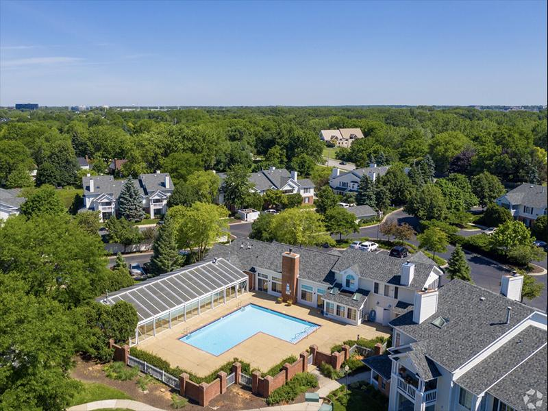 Arial View of Pool | The Arbors of Brookdale Apartments
