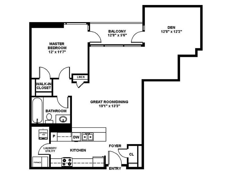 Our A6 is a 1 Bedroom, 1 Bathroom Apartment