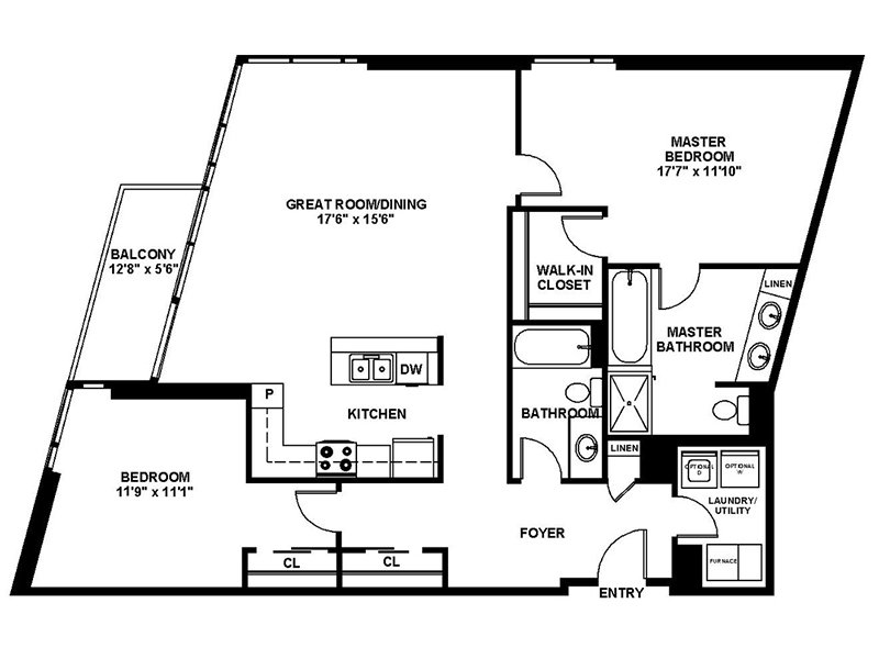 Our B7 is a 2 Bedroom, 2 Bathroom Apartment